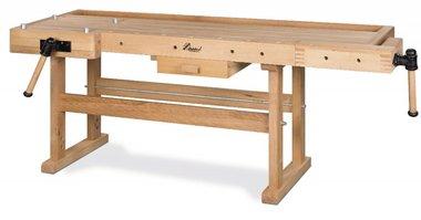 Banco da lavoro in legno pesante - 2100x700 mm