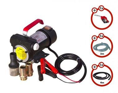 Set pompa diesel 24v, pistola, tubo flessibile, frizione