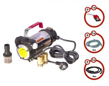 Set pompa diesel 230v, pistola, tubo flessibile, frizione