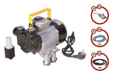 Pompa diesel 230V  pistola  tubo flessibile diesel  raccordo