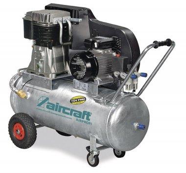 Caldaia a cinghia con compressore ad olio zincato 13 bar - 75 litri