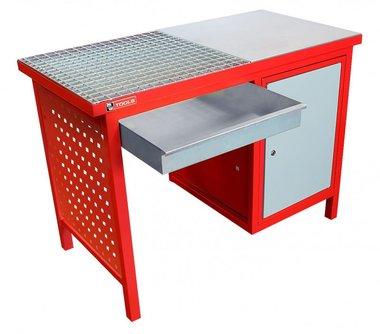 Tavolo di saldatura 120 cm - con armadio