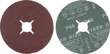 Set di dischi abrasivi in fibra  grana 60  corindone  10 pz