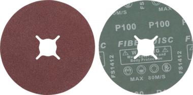 Set di dischi abrasivi in fibra  grana 100  corindone  10 pz