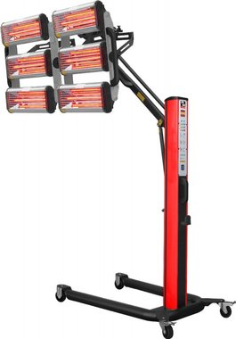 Essiccatore di vernice a infrarossi con 6 lampade