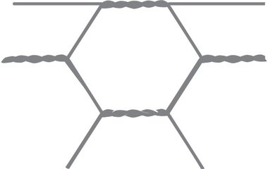 Maglia esagonale Avigal 40x0.9 100 cm x 10 m.