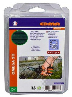 Curve ad anello Edma Omega 20 mm verde Omega 20 mm 1000 pezzi