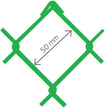 Harmonica Accordo PVC verde Ral 6005 50x2,7 x 150 cm