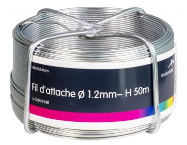 Tirante zincato 1,2 mm 100 mtr-ring di 1,2 mm