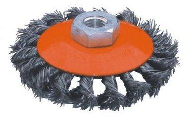 Spazzola piatta in acciaio diametro ritorto 115mm