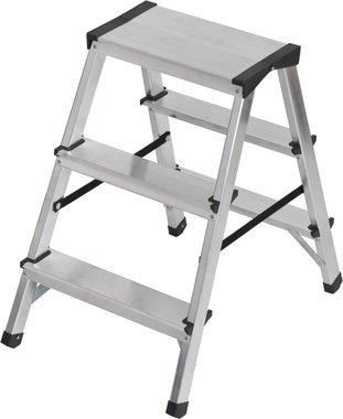 Scala a doppio gradino in alluminio 2x3 pioli Altezza scala 0,61m