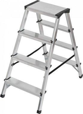 Scala a doppio gradino in alluminio 2x4 pioli Altezza scala 0,82m