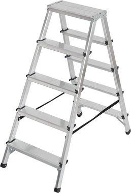 Scala a doppio gradino in alluminio 2x5 pioli Altezza della scala a pioli 1,04m