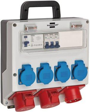 Distributore a parete 4/16A IP44 3x LS 230V/16 A, 1xFI 40 A a 4 poli 30mA