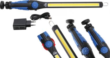 Torcia a LED COB-LED LED bianco freddo e giallo extra piatto