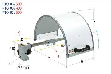 Protezione mandrino 300x200mm