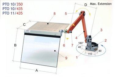 Porta scalpello tappo di protezione 350x300mm