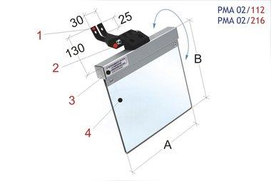 Coperchio protettivo universale di protezione mulini / levigatrici a nastro 200x185mm