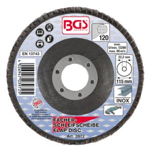 Disco lamellare, diametro 115 mm, granulometria 120